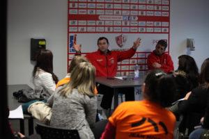 Christophe Denis s'exprime devant les étudiants